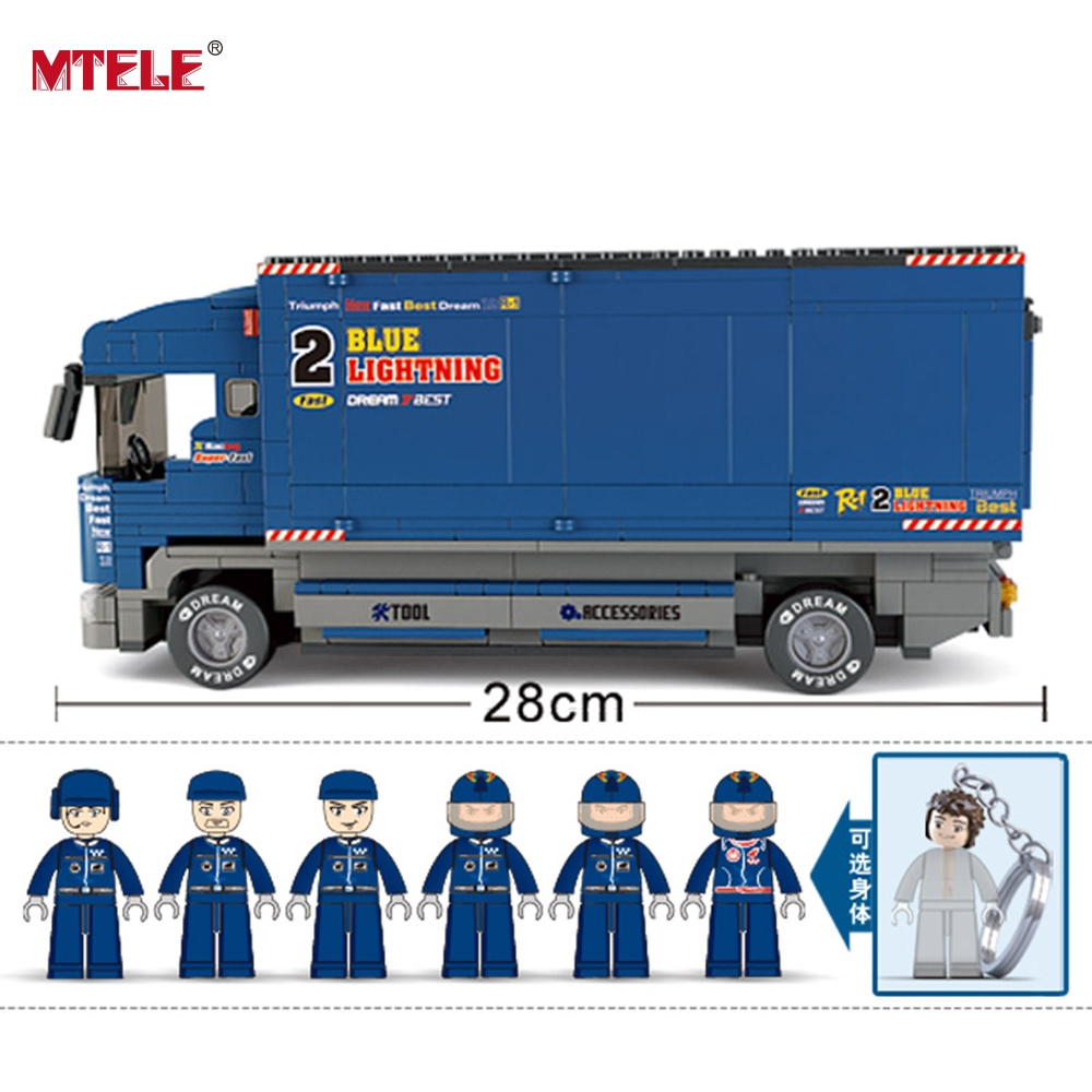 MTELE Brand Powerful F1 Truck 641 Pcs Sluban ABS Plastic Building Blocks Learning Education Toy Compatible with lego lego education 9689 простые механизмы