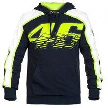 2016 New MOTO GP Valentino Rossi Racing Jackets The Doctor VR46 Hoodies Cotton Motorcycle VR 46 Black Hooded Sweatshirts Fleece