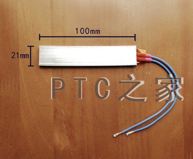 Free Shipping Thermostat PTC aluminum heating ceramic heater for crimper 12V 100*21mm