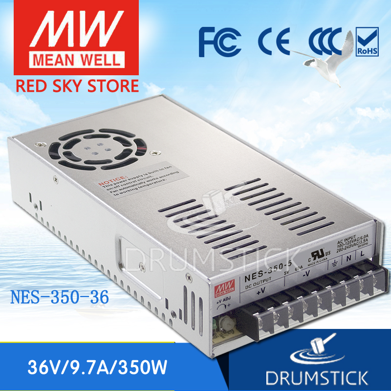 MEAN WELL NES-350-36 36V 9.7A meanwell NES-350 349.2W Single Output Switching Power Supply [nc a] mean well original nes 200 36 36v 5 9a meanwell nes 200 36v 212 4w single output switching power supply
