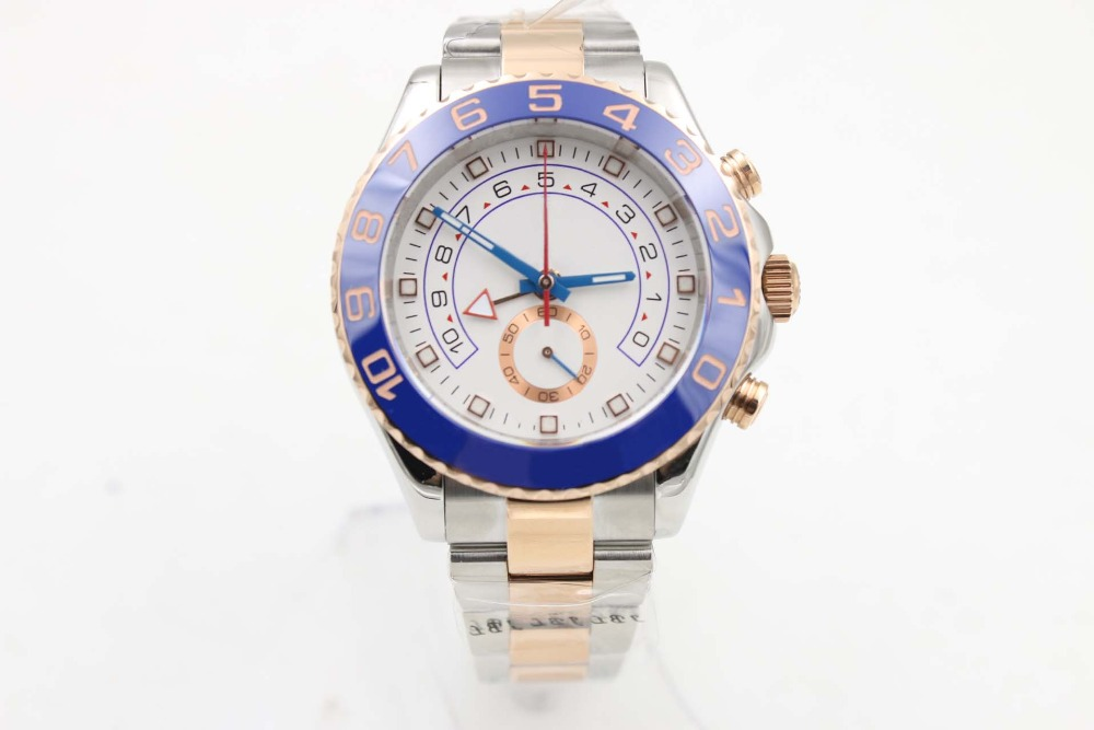 Top Sale Rose Gold watch 44mm automatic mechanical men stainless steel watches Sapphire glass YACHT MASTER model WristwatchTop Sale Rose Gold watch 44mm automatic mechanical men stainless steel watches Sapphire glass YACHT MASTER model Wristwatch