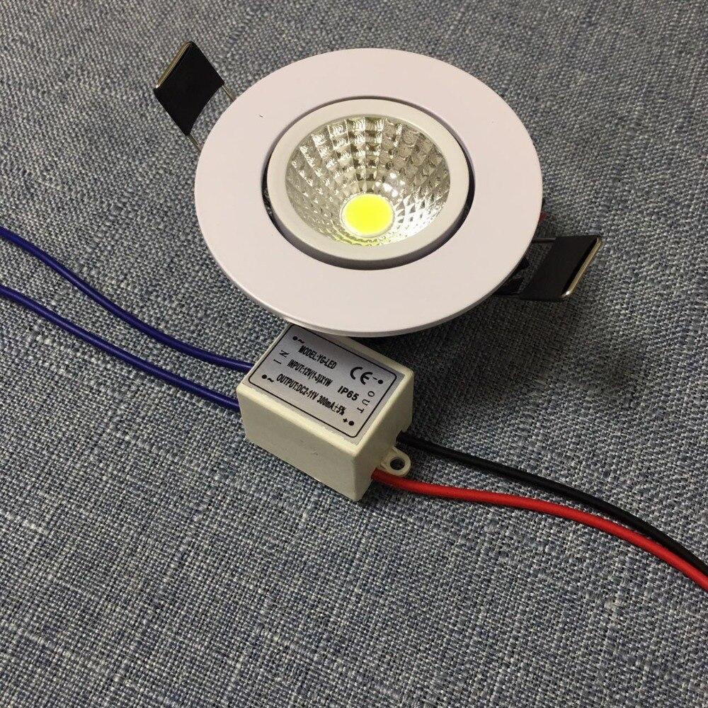 20pcs lot Led Downlight Light Cob Ceiling Spot 3w 85 265v Recessed Lights Indoor Lighting 5