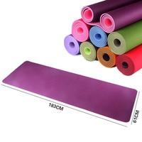 6MM TPE Yoga Mat 183X61cm Tasteless Non Slip Carpet Mat High Density For Beginner Yoga Pilates Fitness Gymnastics Balance