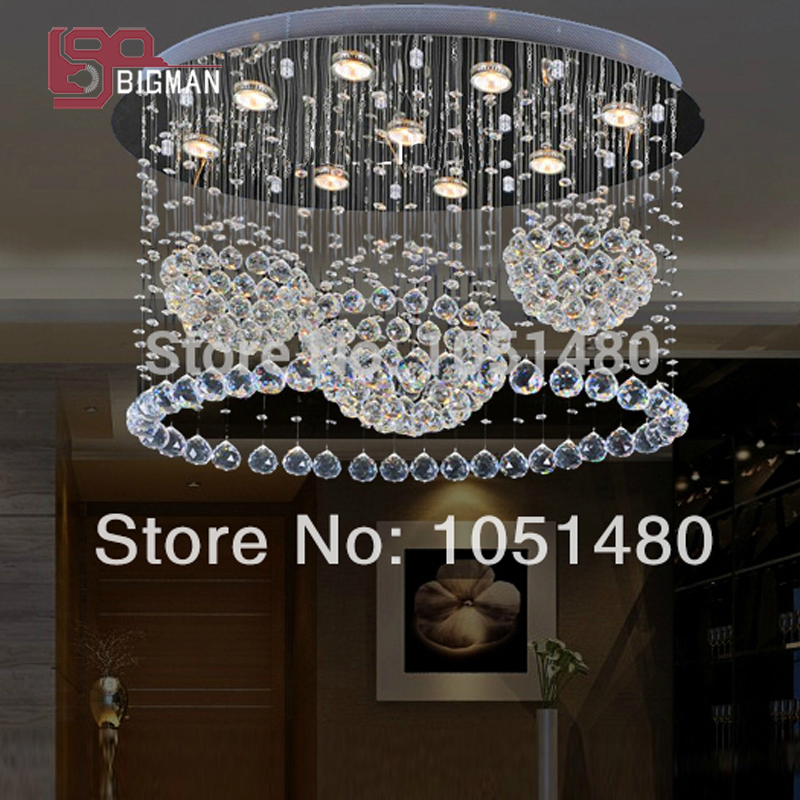 new oval design contemporary crystal chandeliers L800*W400*H600mm home lighting