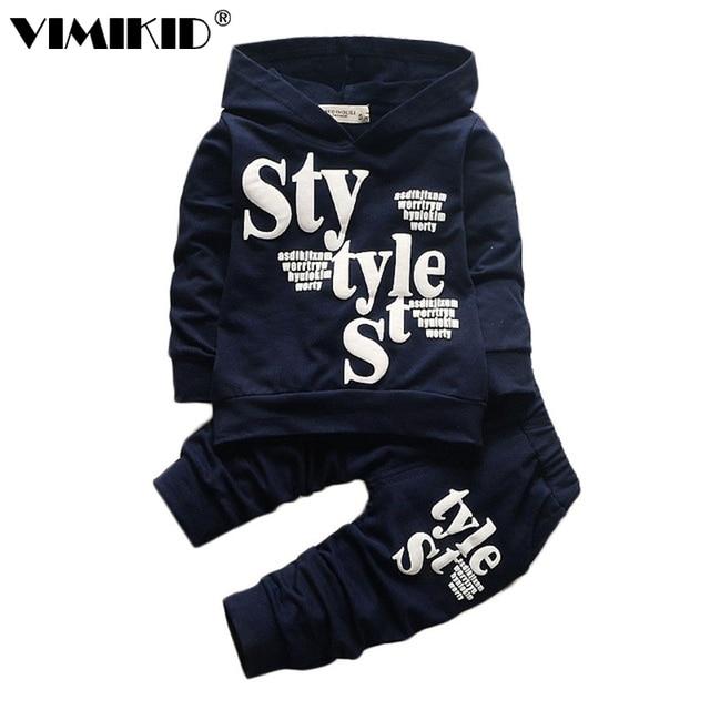 VIMIKID  New Arrival Kids Clothes Boys Clothing set 2pcs Cotton Shirt + Pants Toddler Boys Clothing Children Suits Baby Boy Clot