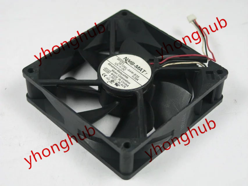 Free shipping For NMB 3610KL-04W-B39, C08 DC 12V 0.20A 3-wire 3-pin 90x90x25mm Server Square fan nika 1 1091712 blue