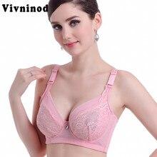 b241fbc1f Sexy Full cup thin lace bra underwear small bra plus size adjustable bra  breast B C D cup Large size 90 95 100 bra soutien gorge