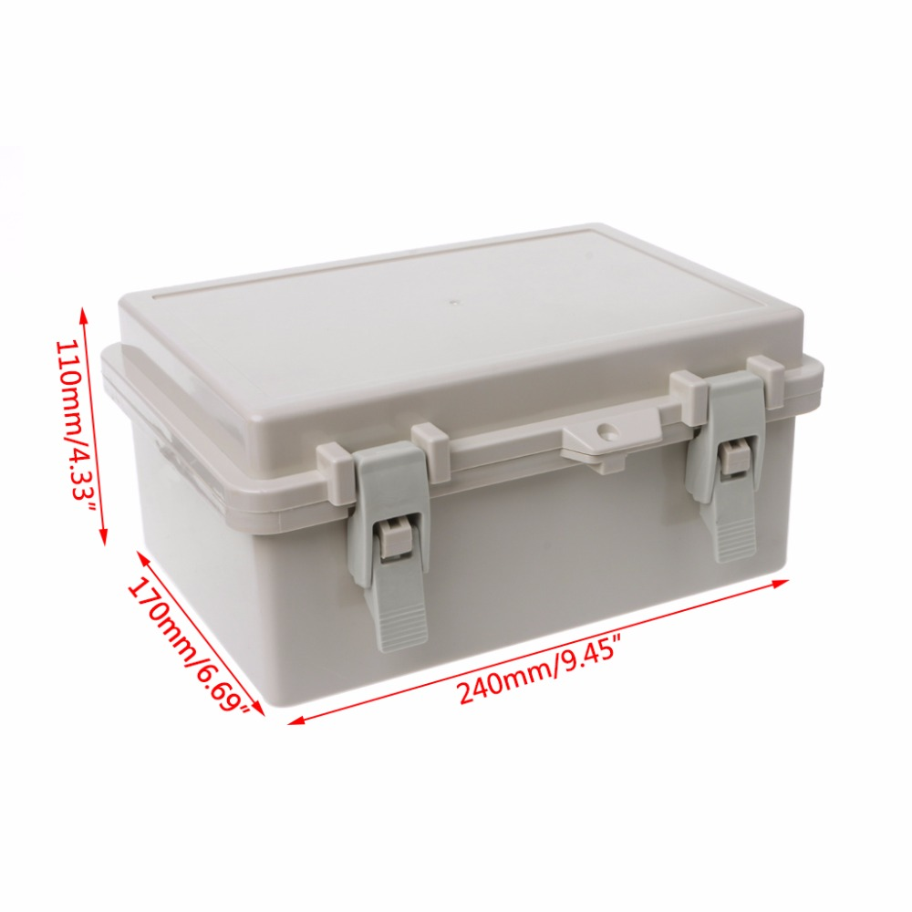 IP65 Waterproof Electronic Junction Box Enclosure Case Outdoor Terminal Cable Electrical Equipment Supplies in Connectors from Lights Lighting