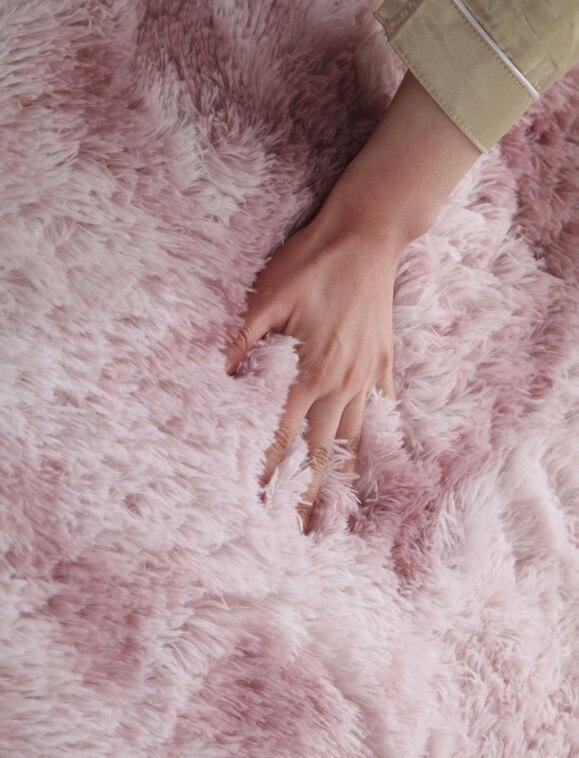Luxe en peluche fourrure tapis salon doux Shaggy tapis enfants chambre cheveux chambre tapis canapé Table basse tapis de sol moderne grands tapis - 4