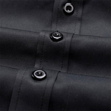 Slim Fit Male Shirt Solid Long Sleeve British Style Cotton Men's Shirt