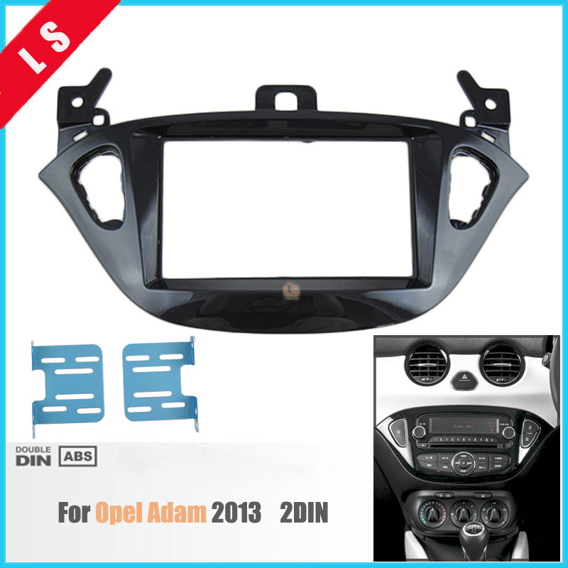 2 DIN Car Refitting Radio Fascia for 2013 OPEL ADAM,2DIN stereo face plate frame panel dash mount kit adapter Bezel facia frame new car radio fascia for nissans frontier xterra 2009 2012 facia frame panel dash mount kit adapter for suzuki equator 2009 2012