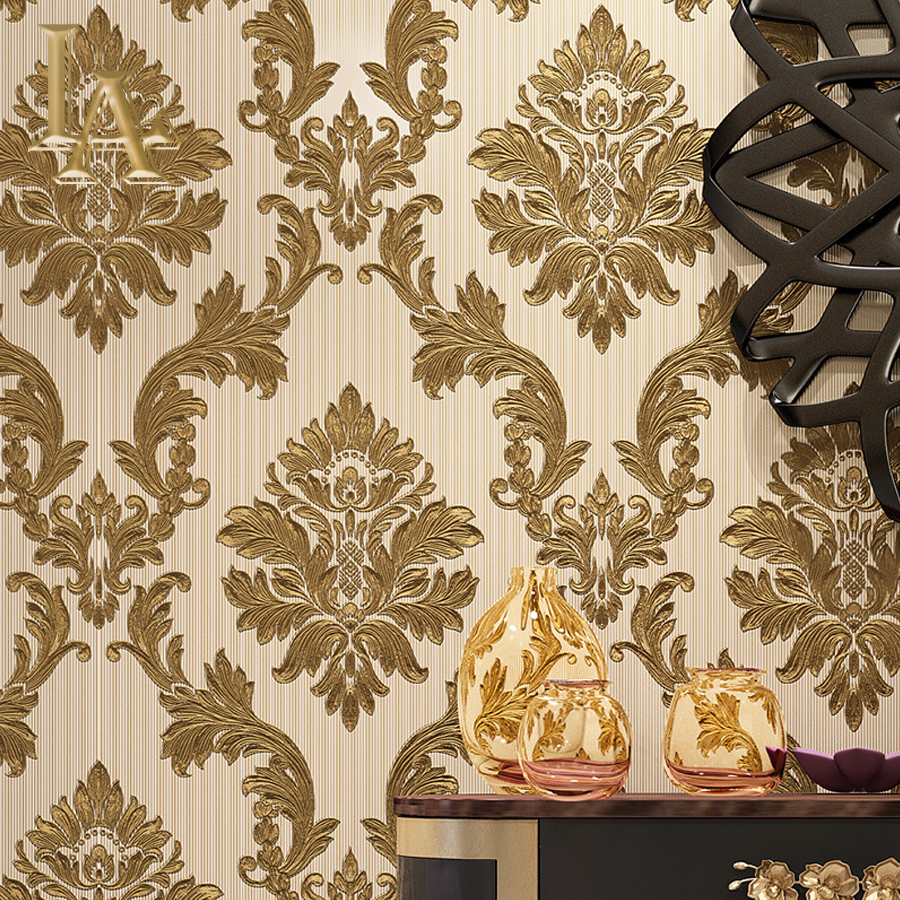 Simple Luxury Damask Wallpaper For Walls Bedroom Living room Sofa TV Background Decor European Style 3D Home Wall Paper Rolls high quality damask gold wallpaper rolls bedroom sofa living room background embossed glitter luxury gold foil wall paper r616