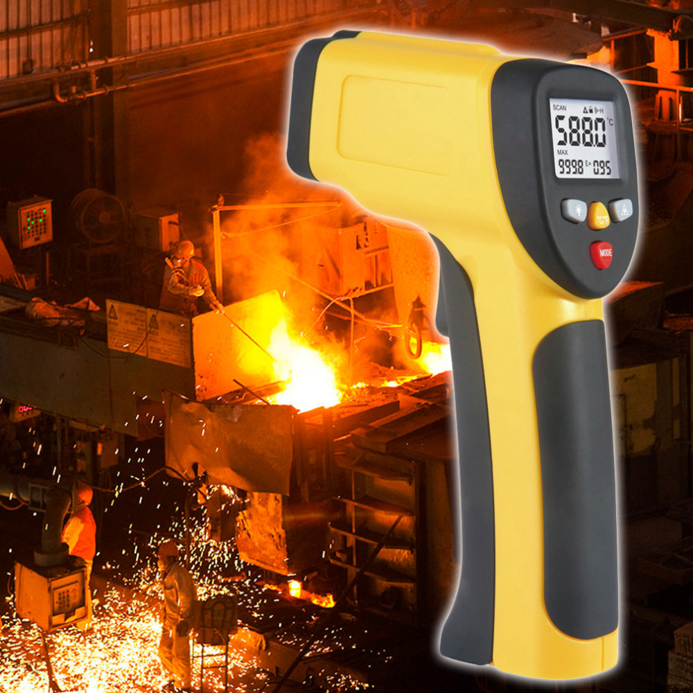 Multi Purpose Dual Laser LCD Display IR Infrared Thermometer -50 To 1050 Degree Celsius Temperature Meter Sensor HT-819  цены
