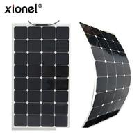 Xionel High Efficiency Solar Panel Semi flexible 100W 18V Solar Sunpower Cell Panel