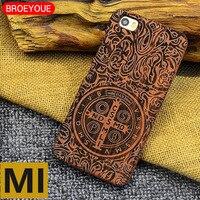 BROEYOUE Pour Xiaomi Mi5 6 Mi 5 6 Cas 100% En Bois Naturel en bois Sculpture Conception Cas Pour Xiaomi de MÉLANGE Mi6 Téléphone Retour Couverture Fundas