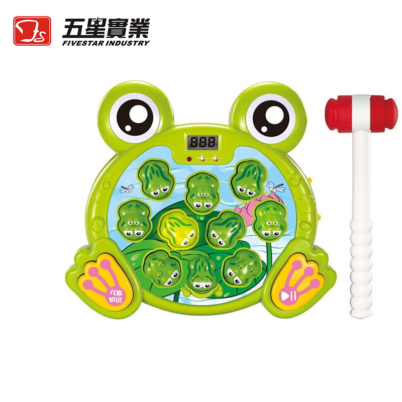 FS TOYS 1 PC 35890 Super Frog Game Toy Electronic Whack a mole game hammer toy for children toddler educational games Xmas Gift