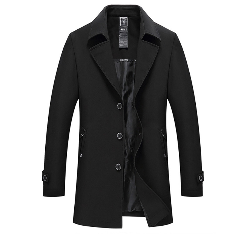 Male Autumn Spring Brand Fashion Slim Fat thin Business Casual Trench Men Overcoat Casaco Masculino 4XL New Mens Trench Coat
