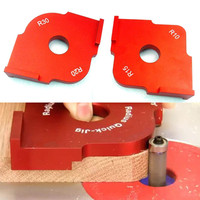 2pcs Wood Panel Radius Table Bits Quick Jig Template Router Jig Corner Templates With Box For