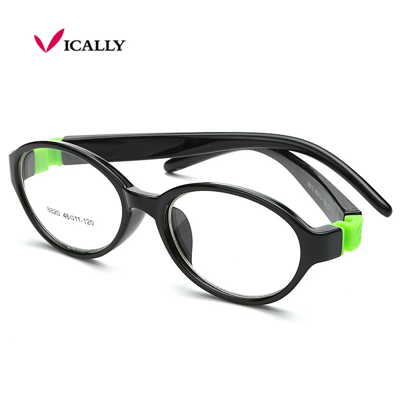 Round Light Child Glasses frame kids Bendable frames eyewear Flexible TR90 rubber optical lense No Screw safe Oculos De Grau