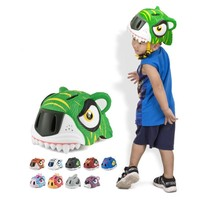 New Sport Safety Skating Helmet For Kids Bicycle Scooter Cute Tiger Integrally Molded Scooters/Roller Skating Helmets With LED