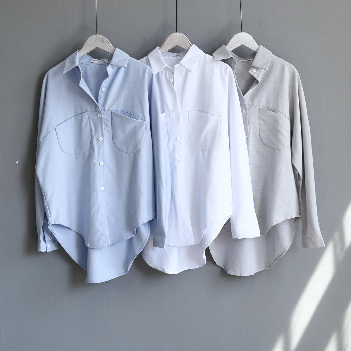Blouse Korean Long Sleeve Tops And Blouses Vintage Women Shirts 13