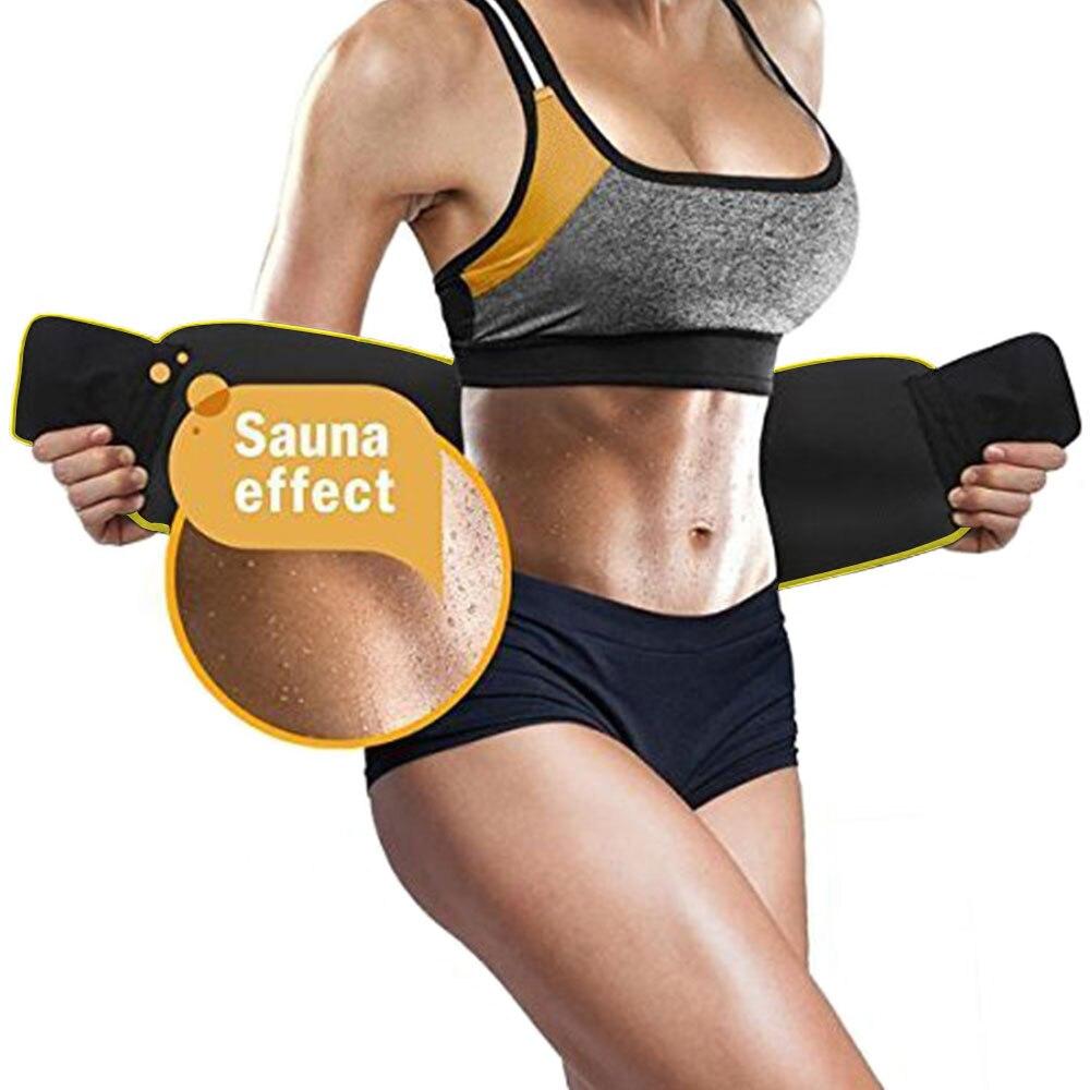 Workout Waist Trimmer Belt Men Body Shaper Supports Weight Loss Fitness Fat Burner Trimmer Band Back Support Neoprene Belt
