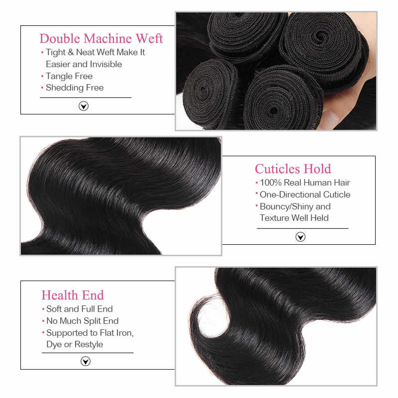 Лолли объемные волнистые пряди с закрытием человеческие волосы пряди с закрытием бразильские волосы плетение пряди с закрытием не Реми