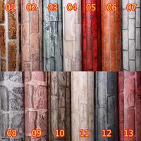 Retro brick pattern self adhesive wallpaper self adhesive wall paper bedroom room adhesive decorative stickers color film paste