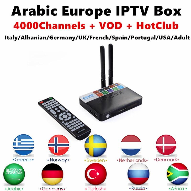 CSA93 Amlogic S912 Android TV Box 16GB Rom Europe Italian IPTV Subscription free UK French Portugal Germany Paytv Smart iptv box