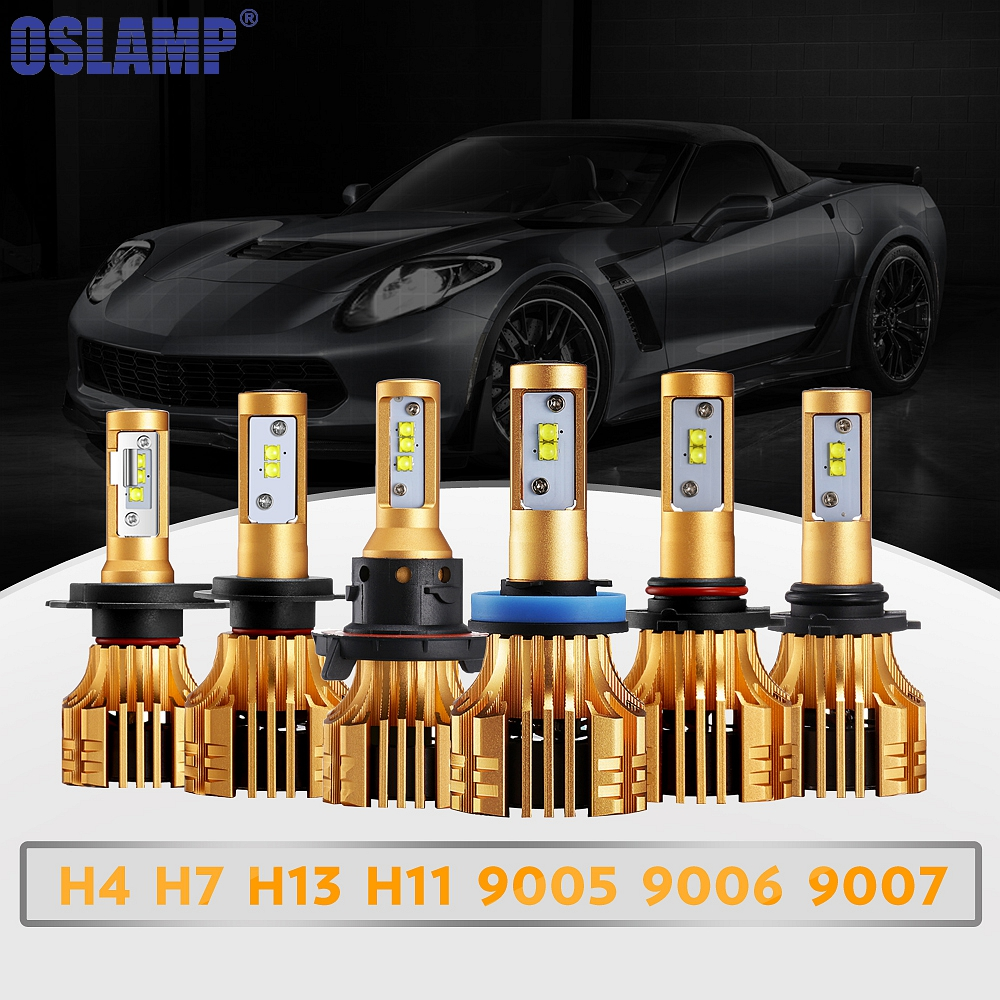Oslamp S6 H1 H4 H7 H11 H13 9005 9006 Car LED <font><b>Headlight</b></font> Bulb LED Head Lamp 72w/pair SMD Automobile Fog Lamps Light 12V 24V