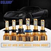 Olsamp 72w Pair H4 H13 H7 9005 HB3 9006 HB4 H11 COB Chips LED Headlight Bulb