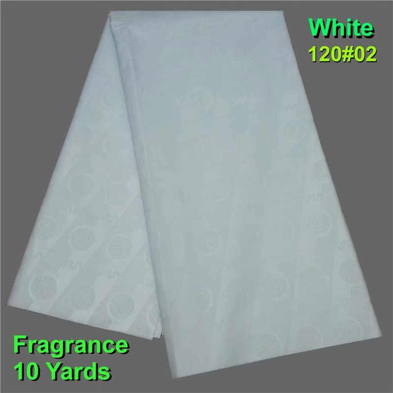 Branco Novo África Guiné Tecido Brocado Rendas, Algodão de Alta Qualidade Bazin Riche Getzner 10 Metros, tissu Senegal Vestuário para Homem/Mulher