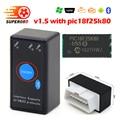 50 шт./лот  диагностический инструмент PIC18F25K80 super mini elm327 v1.5 bluetooth  считыватель кодов с переключателем ELM 327 V1.5 Bluetooth OBD2