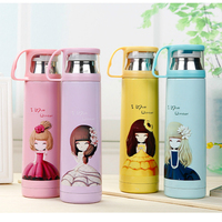 Wholesale Vacuum Stainless Vacuum Cup Children Cartoon Girls Water Glass Originality Portable Tea OutdoorsThermos Bottle