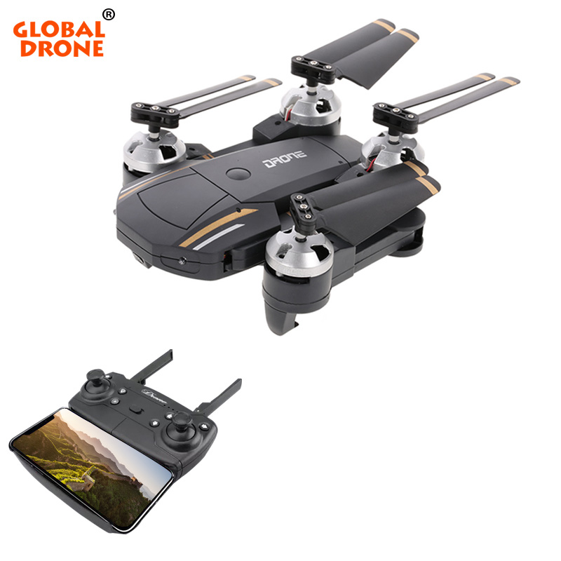 Global Drone Selfie Drones con cámara HD Headless modo Hover plegable Quadcopter Wifi FPV RC Quadcopter RTF VS E58