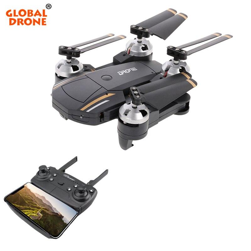 Globale Drone Selfie Drone con la Macchina Fotografica HD Senza Testa Modalità Hover Pieghevole Quadcopter Wifi FPV RC Quadrocopter RTF VS E58