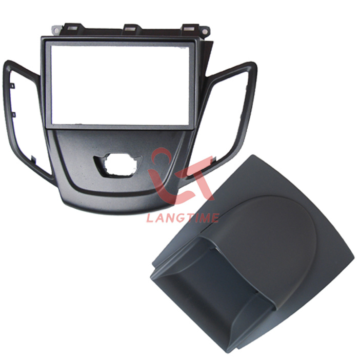 Car refitting DVD frame,DVD panel,Dash Kit,Fascia,Radio Frame,Audio frame for 2011-2012 Ford Fiesta, 2din silver car 2din stereo panel fascia radio refitting dash trim kit for ford focus 98 04 rhd fiesta 95 01 rhd ca5038