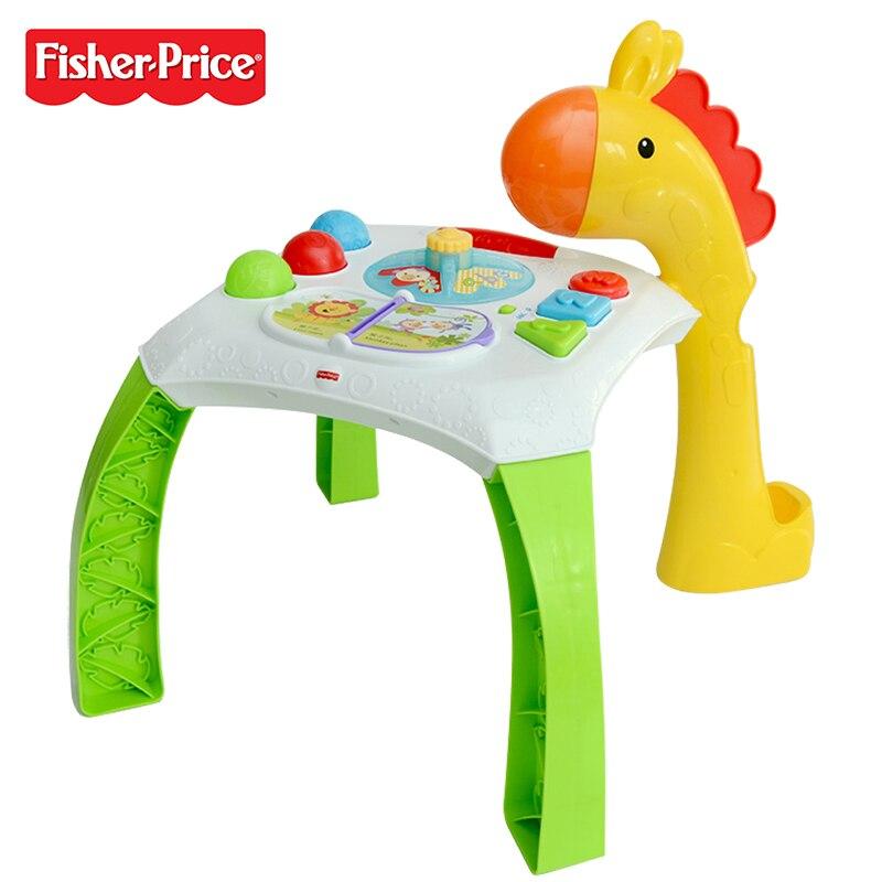 Fisher Price marque Fisher Table éducative bébé musique apprentissage bilingue Machine Larebord BFH63 enfants grandissant jouet