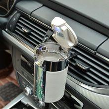 Car Portable Cigar Cigarette Ashtray Smokeless Carbon Fiber With Led Light