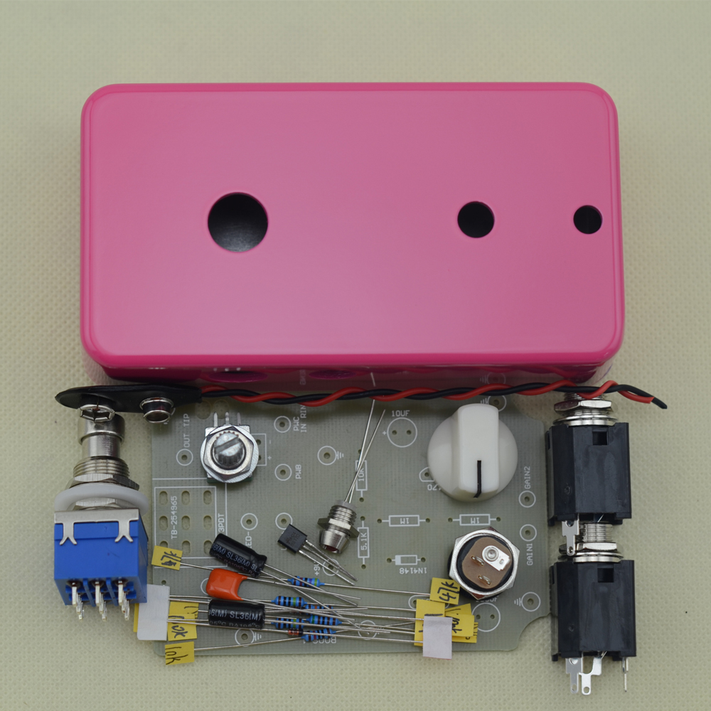DIY BOOSTER/ BOOST clean Guitar Effect Pedal Boost /True Bypass BOOSTER Kits FP mooer ensemble queen bass chorus effect pedal mini guitar effects true bypass with free connector and footswitch topper
