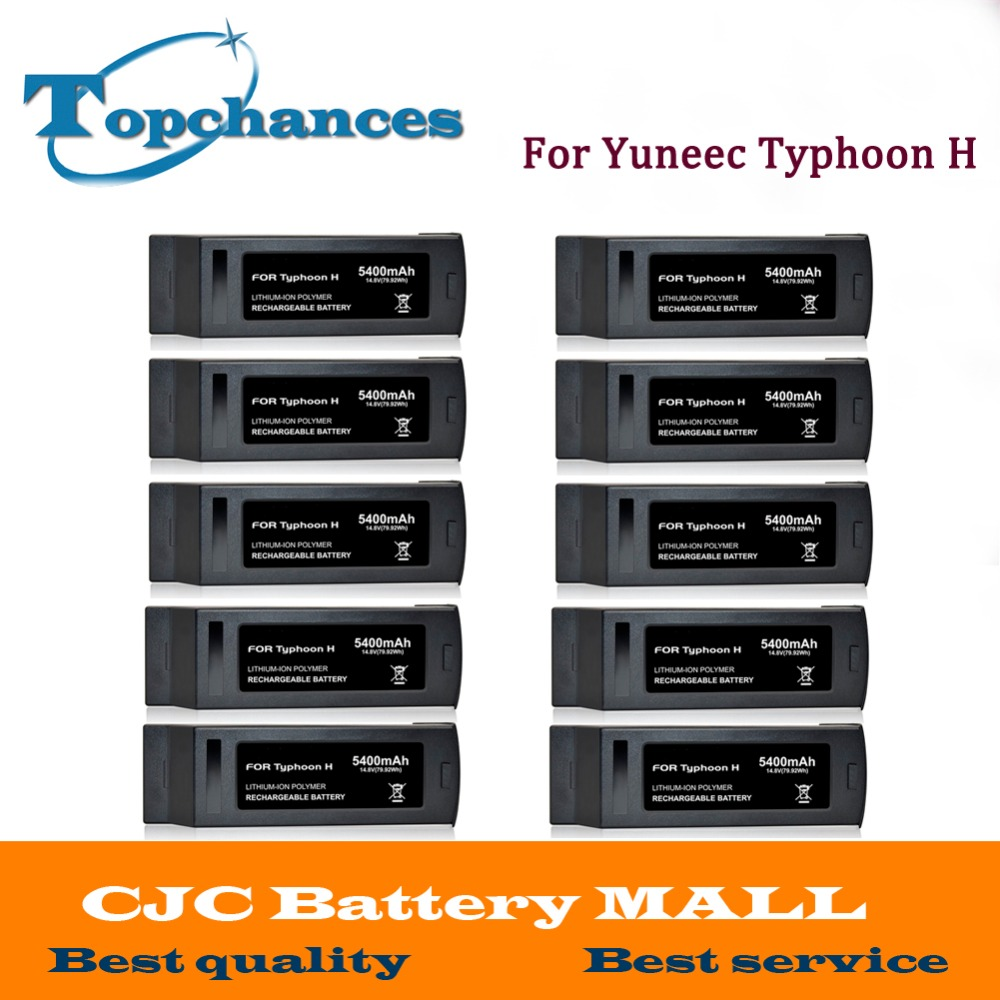 Wholesale 10PCS High Quality 4S Full 5400mAh 14.8V 79.92Wh Replacement LiPo Battery for Yuneec Typhoon H Drone RC Quadcopter yuneec typhoon h rtf black grey гексакоптер