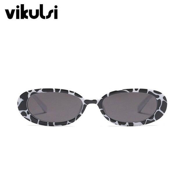 Retro owalne okulary przeciwsłoneczne damskie marka projektant różowy 2018 Vintage Retro okulary przeciwsłoneczne rama panie małe okulary óculos De Sol nowy