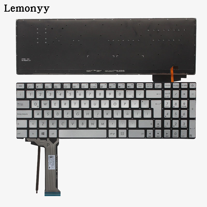 цены Latin laptop keyboard FOR ASUS GL552 GL552J GL552JX GL552V GL552VL GL552VW N551 N551J N551JB N551JK N551JM N551JQ backlit LA