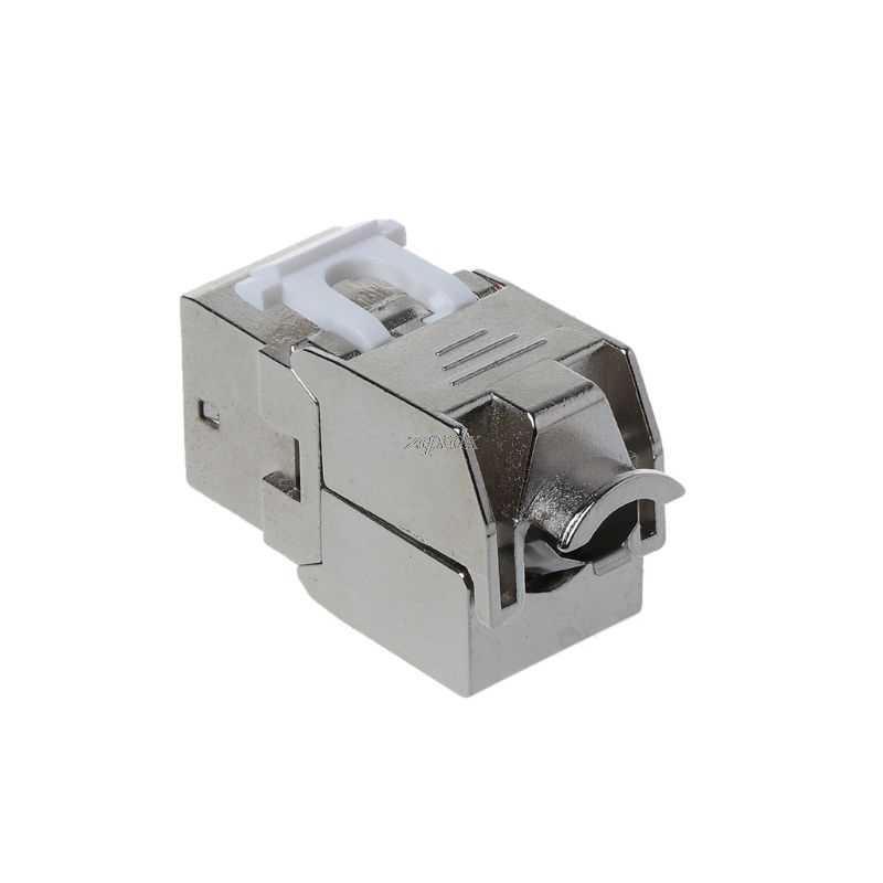 1 unidad RJ45 Keystone Cat6/Cat6A Módulo de aleación de Zinc FTP blindado enchufe de red Keystone conector adaptador venta al por mayor y Dropship