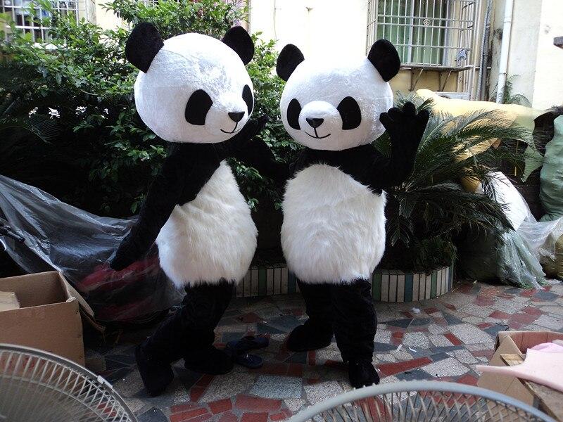 Costume de mascotte ours Panda déguisement Costume adulte robe de soirée