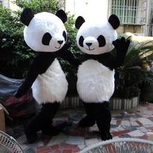 Костюм талисмана медведя панды маскарадный костюм Взрослый вечерние костюм  вечернее платье b7b96f7225aba