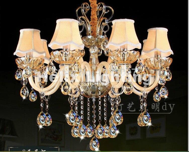 Kronleuchter Kristall Günstig ~ Moderne champagner weiße kristall kronleuchter europäischen luxus