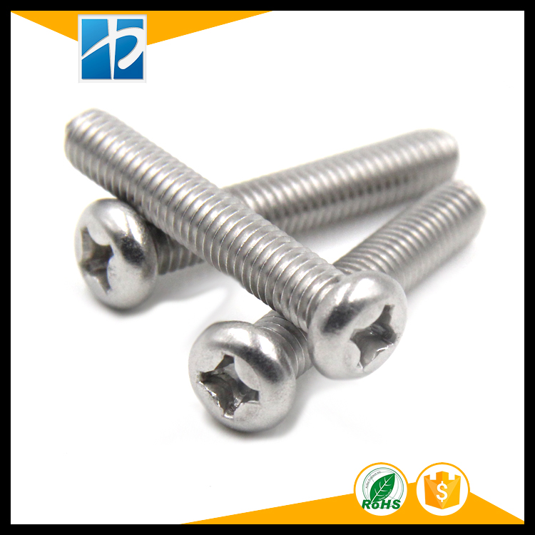 Купить с кэшбэком (50 pc/lot) metric thread M1.6,M2,M2.5,M3 *L Stainless Steel Phillips Pan Round Head model Electric machine diy Screw