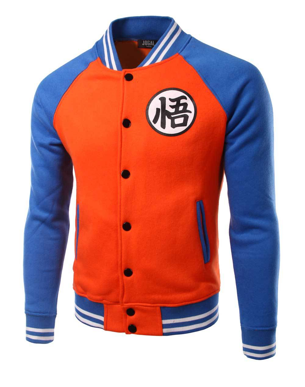 Hot Dragon ball GOKU font b hoodies b font blue with orange dragon ball font b