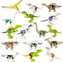 Jurassic Dinosaurs World Park Tyrannosaurus Rex Spinosaurus Triceratops Dinosaur Building Blocks Kids Toys juguetes
